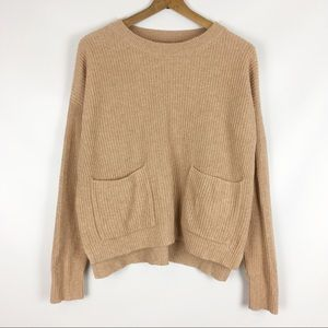 madewell | patch pocket knit pullover sweater 0775